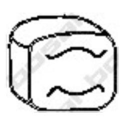 255-157 BSL 255-157 WIESZAK TLUMIKA MERCEDES 208,210,308,310 GUMOWY BOSAL CZESCI MONTAZOWE BOSAL [944551]...