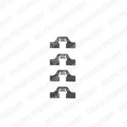 LX0307 D LX0307 ZESTAW MONTAZOWY HAMULCA - KLOCKOW FIAT AUDI SEAT VW SZT DELPHI ZESTAW MONTAZOWY HAMULCA DELPHI [951756]...