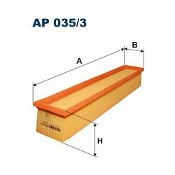 AP 035/3 F AP035/3 FILTR POWIETRZA MERCEDES C 200/230 (W203) 00-02 SZT FILTRY FILTRON [850556]...