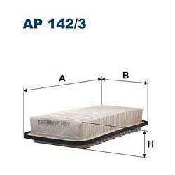 AP 142/3 F AP142/3 FILTR POWIETRZA TOYOTA COROLLA IX 1.4/1.6/1.8 02- SZT FILTRY FILTRON [850719]...