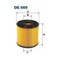 OE 669 F OE669 FILTR OLEJU NISSAN ALMERA 2.2 DI 16V 00 ; SZT FILTRY FILTRON [851366]...