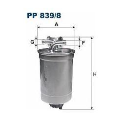 PP 839/8 F PP839/8 FILTR PALIWA AUDI A2 1.2/1.4 TDI 00-05 SZT FILTRY FILTRON [851823]...