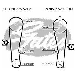 5120 G 5120 PASEK ROZRZADU HONDA JAZZ/SWIFT 1.0/1.2 83 SZT GATES PASKI [852405]...