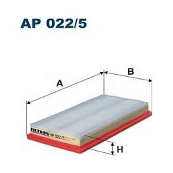 AP 022/5 F AP022/5 FILTR POWIETRZA FIAT 500 0.9 TWINAIR/LANCIA Y 0.9 SZT FILTRY FILTRON [853077]...