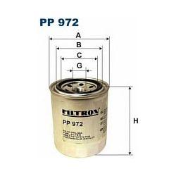 PP 972 F PP972 FILTR PALIWA ISUZU TROOPER/OPEL MONTEREY 3.0DTI 98 SZT FILTRY FILTRON [853849]...