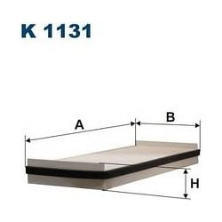 K 1131 F K1131 FILTR KABINOWY RENAULT ESPACE IV 1.9-3.5 10/02- FILTRY FILTRON [853857]...