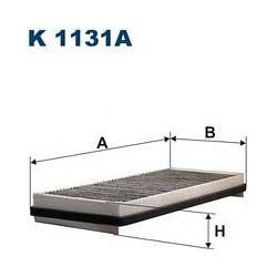 K 1131A F K1131A FILTR KABINOWY RENAULT ESPACE IV 1.9-3.5 10/02- Z AKT.WEGLEM FILTRY FILTRON [853858]...