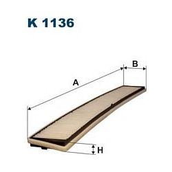 K 1136 F K1136 FILTR KABINOWY BMW SERIE 3 (E46) WSZYSTKIE MODELE FILTRON SZT FILTRY FILTRON [853860]...