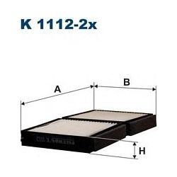 K 1112-2X F K1112-2X FILTR KABINOWY MAZDA 323 F/P/S 1.4/1.5/1.9/2.0 626 97-02 FILTRY FILTRON [853965]...