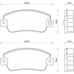 433481 FOM 433481 KLOCKI HAMULCOWE FIAT PANDA/ UNO/ SEAT IBIZA/ MALAGA/ MARBELLA GR.18MM* FOMAR KLOCKI ZACHODNIE [854457]...