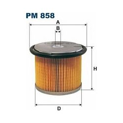 PM 858 F PM858 FILTR PALIWA FSO POLONEZ FSO/PN PN 1,9D 1,9TD / SYSTEM CAV / SZT FILTRY FILTRON [855239]...
