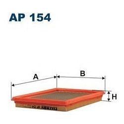 AP 154 F AP154 FILTR POWIETRZA NISSAN ALMERA 1,4 PRIMERA 1,6 CIVIC 1,4 SZT FILTRY FILTRON [855380]...