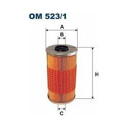 OM 523/1 F OM523/1 FILTR OLEJU BMW/OPEL OMEGA 325 TD 91-98 SZT FILTRY FILTRON [855392]...