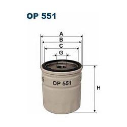 OP 551 F OP551 FILTR OLEJU OPEL CORSA 1,0 1,2-85 OMEGA 2,4I SZT FILTRY FILTRON [855468]...