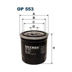 OP 553 F OP553 FILTR OLEJU CITROEN BX 11 14 88- PEUGOT 104 SZT FILTRY FILTRON [855469]...