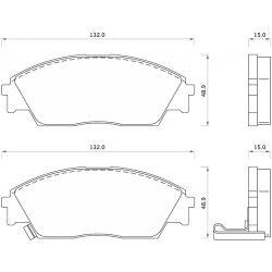 444781 FOM 444781 KLOCKI HAMULCOWE HONDA CIVIC 1.6 90- 3D GR.15MM* FOMAR KLOCKI ZACHODNIE [856706]...