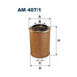 AM 407/1 F AM407/1 FILTR POWIETRZA MERCEDES 100/120/140/160/180 93- WSZYS SZT FILTRY FILTRON [856898]...