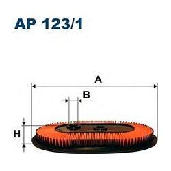 AP 123/1 F AP123/1 FILTR POWIETRZA NISSAN PRIMERA 1,6I 16V 93- ; SZT FILTRY FILTRON [857557]...