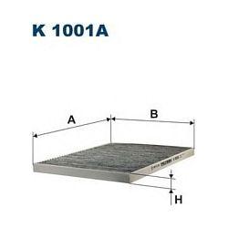 K 1001A F K1001A FILTR KABINOWY OPEL OMEGA WSZYST.94- ; Z AKT.WEGLEM FILTRY FILTRON [858143]...