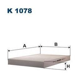 K 1078 F K1078 FILTR KABINOWY AUDI A6 1,8-2,8 99-A6 QUATRO 99 FILTRY FILTRON [860908]...