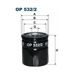 OP 532/2 F OP532/2 FILTR OLEJU FORD FIESTA V/FOCUS C-MAX/II/MAVERICK II/MONDEO II 1.8/2.0 02- MAZDA 3/6 2.0 03- SZT FILTRY FILTRO [862443]...
