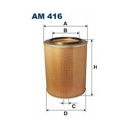 AM 416 F AM416 FILTR POWIETRZA SCANIA GPR 93 GPR 113 T113 P113 SZT FILTRY FILTRON [863110]...