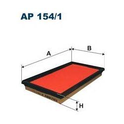 AP 154/1 F AP154/1 FILTR POWIETRZA NISSAN ALMERA 1,5/8I 00-ASTRA 1,7TD SZT FILTRY FILTRON [863449]...