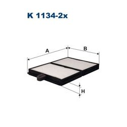 K 1134-2X F K1134-2X FILTR KABINOWY TOYOTA FILTRY FILTRON [864620]...