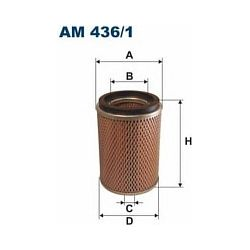 AM 436/1 F AM436/1 FILTR POWIETRZA NISSAN TERRANO 4WD 2.7TD 10/89- SZT FILTRY FILTRON [864737]...