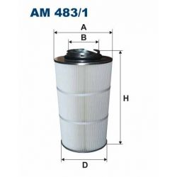 AM 483/1 F AM483/1 FILTR POWIETRZA DO PROSZKOWYCH KABIN MALARSKICH SZT FILTRY FILTRON [865601]...