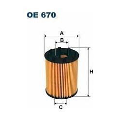 OE 670 F OE670 FILTR OLEJU FIAT DOBLO/IDEA/PANDA II/PUNTO III 1.3JTD OPEL AGILA/COMBO B/CORSA C 1.3CDTI SZT FILTRY FILTRON [866492]...