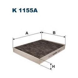 K 1155A F K1155A FILTR KABINOWY VW CARAVELLE/TOUAREG/TRANSPORTER T5 1.9-3.2 02- FILTRY FILTRON [866722]...