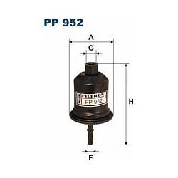 PP 952 F PP952 FILTR PALIWA MITSUBISHI GALANT 2.0I 16V 97- SZT FILTRY FILTRON [866954]...