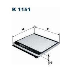 K 1151 F K1151 FILTR KABINOWY RENAULT SCENIC II 1.4-2.0 99-03 FILTRY FILTRON [867595]...