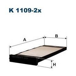 K 1109-2X F K1109-2X FILTR KABINOWY NISSAN ALMERA 9/95-5/00 FILTRY FILTRON [868114]...