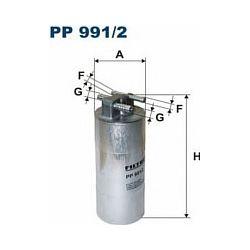 PP 991/2 F PP991/2 FILTR PALIWA AUDI A6 II 2.7TDI V6 3.0TDI V6 10/08- ; SZT FILTRY FILTRON [869771]...