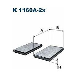 K 1160A-2X F K1160A-2X FILTR KABINOWY BMW SERIE 5/6 03- Z AKT.WEGLEM FILTRY FILTRON [872109]...