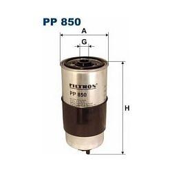 PP 850 F PP850 FILTR PALIWA AUDI A4 1,9TDI 80 1,6D 1,9D SZT FILTRY FILTRON [873593]...