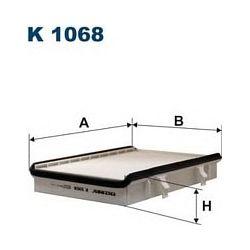 K 1068 F K1068 FILTR KABINOWY AUDI/VW/SEAT/SKODA 257X190X54 SZT FILTRY FILTRON [874409]...