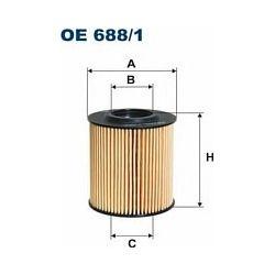 OE 688/1 F OE688/1 FILTR OLEJU VW POLO V/SKODA FABIA II/IBIZA V 1.2 TDI 10 SZT FILTRY FILTRON [875779]...