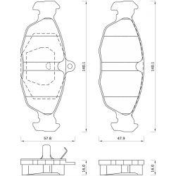 470081 FOM 470081 KLOCKI HAMULCOWE OPEL ASTRA/ CORSA/ TIGRA/ VECTRA GR.16MM* FOMAR KLOCKI ZACHODNIE [877431]...
