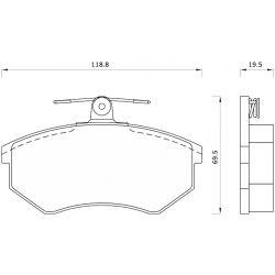 432781 FOM 432781 KLOCKI HAMULCOWE AUDI 80/ 90/ 100/ 200/ A4/ VW PASSAT GR.19,5MM* FOMAR KLOCKI ZACHODNIE [877469]...