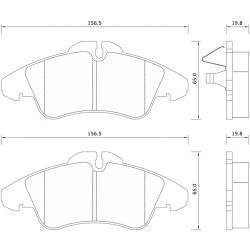 627281 FOM 627281 KLOCKI HAMULCOWE MERCEDES VITO/ SPRINTER 96- / VW LT 28-35 GR.19,8MM* FOMAR KLOCKI ZACHODNIE [877833]...