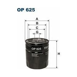 OP 625 F OP625 FILTR OLEJU OPEL OMEGA 2,5TD 88-94 SENATOR SZT FILTRY FILTRON [879362]...