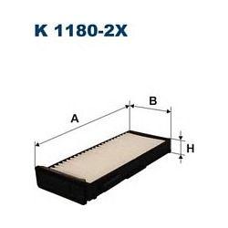 K 1180-2X F K1180-2X FILTR KABINOWY MITSUBISHI CARISMA/COLT V/SPACE STAR 1.3-1.9 95- FILTRY FILTRON [880509]...