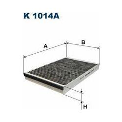 K 1014A F K1014A FILTR KABINOWY OPEL ASTRA G/H/ZAFIRA I Z AKT.WEGLEM SZT FILTRY FILTRON [880759]...