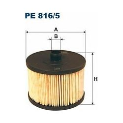 PE 816/5 F PE816/5 FILTR PALIWA CITROEN C4 2.0HDI 04- FIRD FOCUS C-MAX PEUGEOT 307/307SW/407 SZT FILTRY FILTRON [880777]...