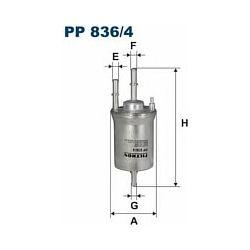 PP 836/4 F PP836/4 FILTR PALIWA AUDI A3 II/SKODA OCTAVIA II/VW GOLF V/VI 1.6 05 ; SZT FILTRY FILTRON [880782]...