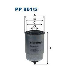 PP 861/5 F PP861/5 FILTR PALIWA F PP 861/5 SZT FILTRY FILTRON [880783]...