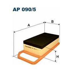 AP 090/5 F AP090/5 FILTR POWIETRZA CITROEN C5 1.8/2.0/3.0 16V V6 PEUGEOT 407 1.8-3.0 04- SZT FILTRY FILTRON [881282]...
